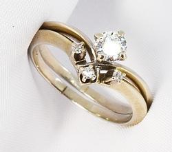 Elegant .33 Ct. TW  Dia. 14K WG Wedding Ring Set