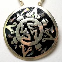 Large Pendant and Chain in Sterling Silver