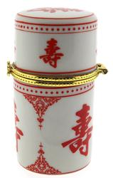 Painted Porcelain Toothpick Holder