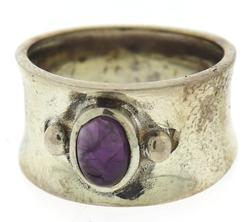 Vintage Amethyst Sterling Silver Ring