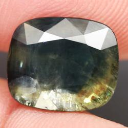 Heated only large 5.74ct blue green Sapphire
