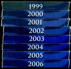 1999-2006 8 Different Modern US Proof Sets