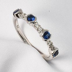 Nice Sapphire and Diamond Ring in 14K WG
