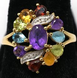 Vintage Multi-Gemstone Ring in Gold