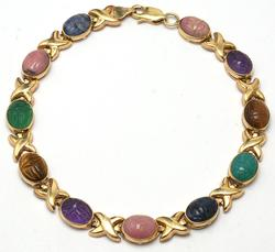 Mini Scarab Bracelet in 14KT Gold