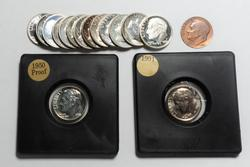 Roosevelt Dime Lot Mostly Proof And Uncirculated