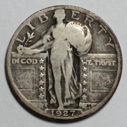 1927 S Semi Key Standing Liberty Quarter