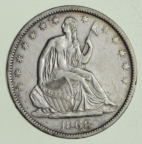 1868-S Seated Liberty Half Dollar
