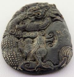 Hand Carved Old Nephrite Jade Pendant