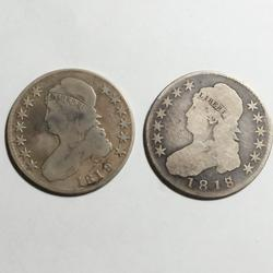 1818/7 And 1819/8 Bust Halves