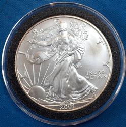 BU 2001 American Silver Eagle