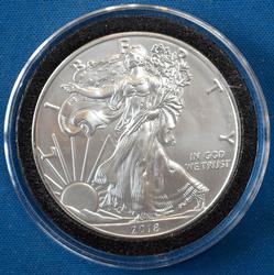 BU 2018 American Silver Eagle