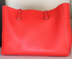 Tory Burch Brilliant Red Crazy Pink Perry Phoebe Tote