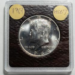 Absolute Gem 1964 Accented Hair Kennedy Half