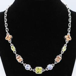 Stunning Silver and Gemstone Necklace