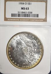 1904-O MS63 Morgan Silver Dollar, NGC