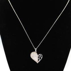 Lovely Bianci Sterling Silver Pendant Necklace