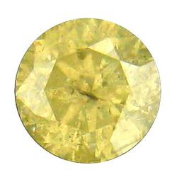 Fancy yellow .24ct unheated Diamond solitaire