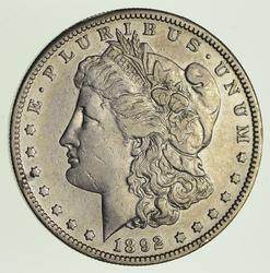 1892-S Morgan Silver Dollar - Circulated