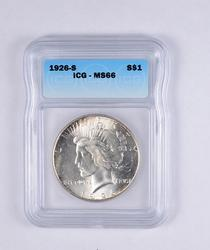 MS66 1926-S Peace Silver Dollar - Graded ICG