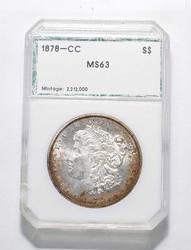 MS63 1878-CC Morgan Silver Dollar - Graded PCI