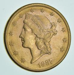 1887-S $20.00 Liberty Head Gold Double Eagle