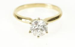14K Yellow Gold 1.00 G-H, I Diamond Solitaire Engagement Ring