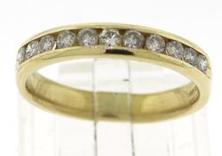Round Brilliant Cut Channel Set Diamond Band