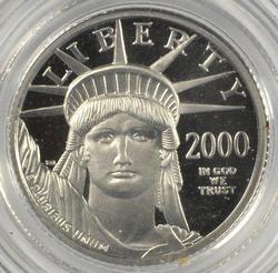 Superb Gem Ultra Cameo Proof 2000-W $10 Platinum Eagle