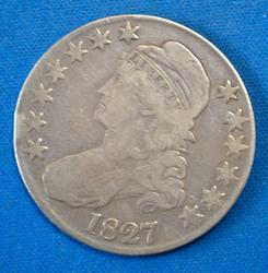 1827 BUST HALF DOLLAR  CIRC.