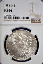 1884-O MS64 Morgan Dollar, NGC