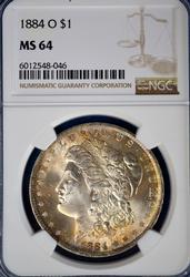 1884-O Morgan Dollar NGC MS64