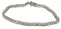 Popular Whiet Gold Diamond Line Bracelet