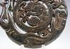Large Nephrite Jade Carved Curly Dragon Pendant