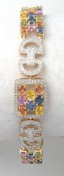 Incredible 14KT Sapphire & Diamond Bracelet