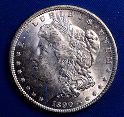 Full Luster BU 1890 Morgan Dollar