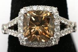 Magnificent 4.16ctw Diamond Ring, 18KT
