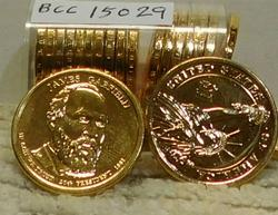 Roll (20) Gold Plated Presidential Dollars