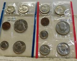 1981 Uncirculated Mint Set  P and D and S  SBA Dols.