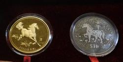 Singapore Equine Set - Medal and $10 coin