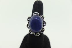 Silvertone Gemstone Ring