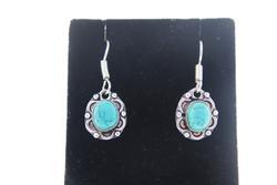 silvertone Gemstone Earrings