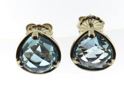 Lois Hill Sterling Silver Blue Topaz Earrings