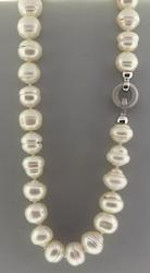 Baroque Pearl Necklace w Diamond Clasp