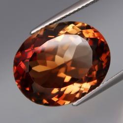 High gem grade 16.05ct Ouro Preto Imperial Topaz