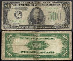 $500 1934 Atlanta Circulated Always in Demand