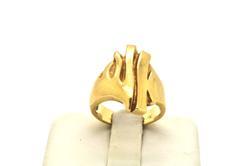 18 KT FLAME DESIGN GOLD RING