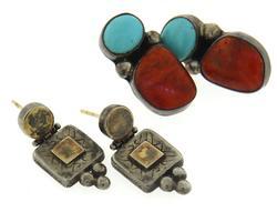 Pair of 2 Sterling Silver Earrings