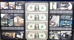 4 NOTE $1 UNCUT SHEET SERIES 1981-A CHICAGO FED