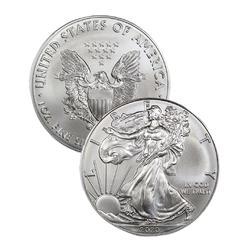 2020 Choice Frosty White BU Silver Eagle